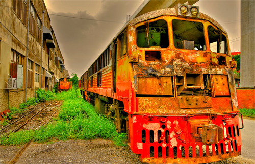 Old Train - HDR