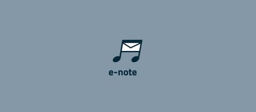 e-note logo