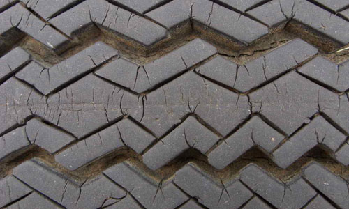 Good Running Tire Texture