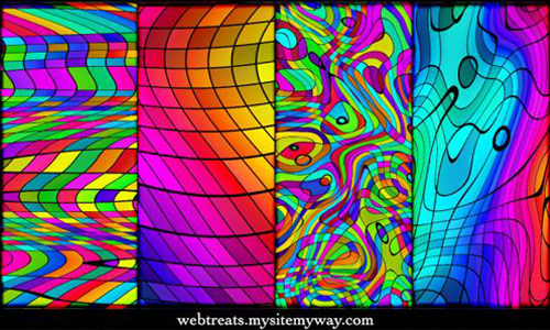 Seamless Chromatic Rainbow Patterns