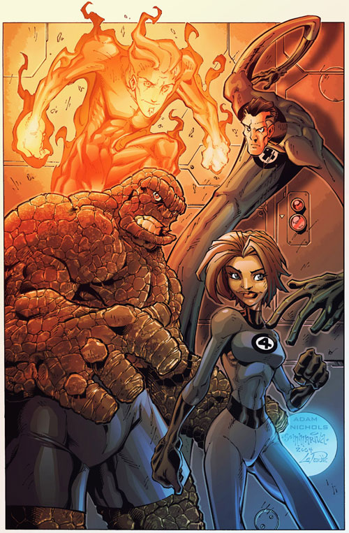 2004Nov14 Fantastic Four Pinup