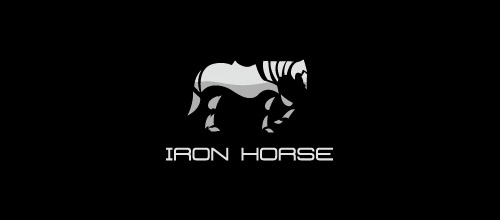 iron horse logo design