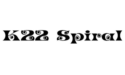 K22 Spiral Swash font