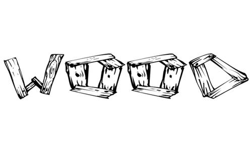 wood2 font