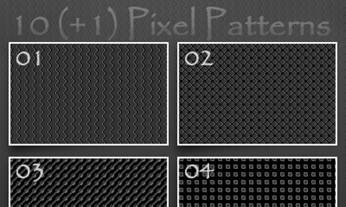 10 Gray Pixel Patterns