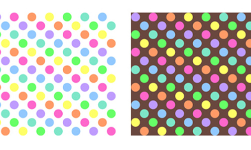 Polkadot Rainbow Pattern Stock
