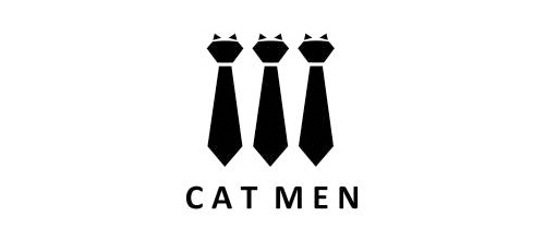 Cat men logo