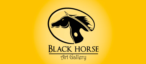 black horse logo design