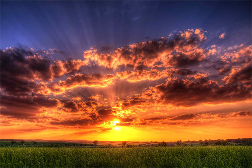 wonderful sunset HDR