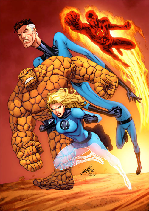 Fantastic Four color by Al Rio