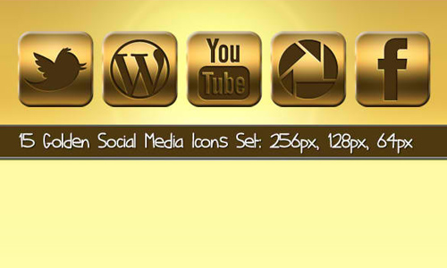 Golden Social Icons