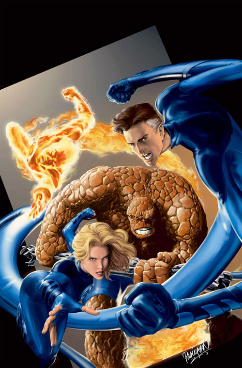 Fantastic Four Painted