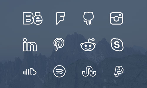 Aluminum Metal Social Media Icons