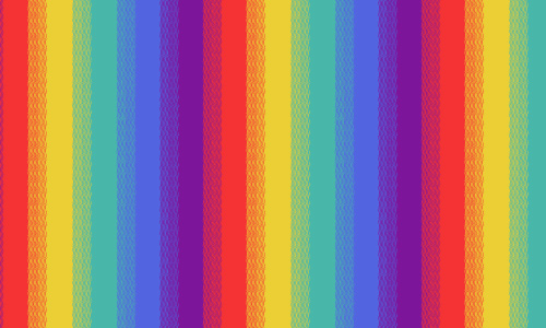 rainbow stripes - Rainbow Color