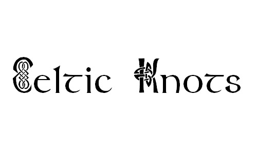 free celtic knots font