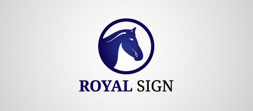 royal sign horse logo