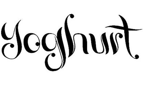 yoghurt font