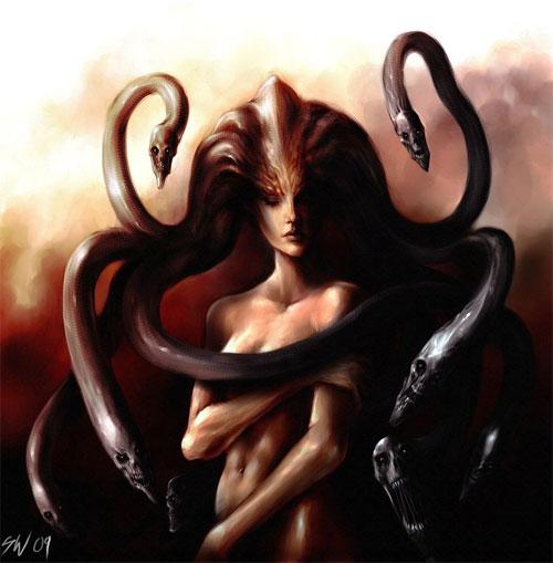 Medusa digital art