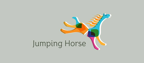 jumping horse logo design