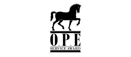OPE Award horse logo