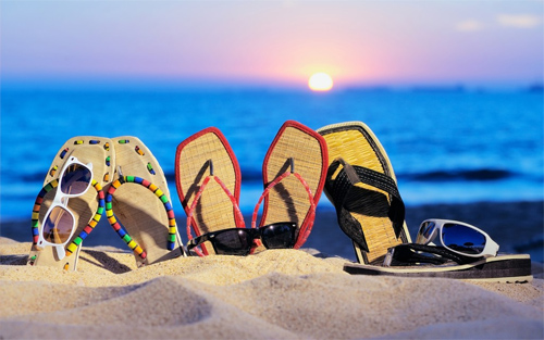 Sandals and Sunglasses wallpaper