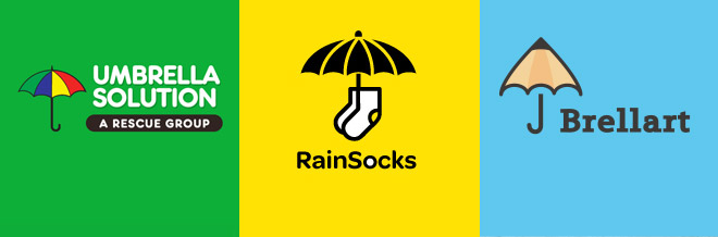 30 Simple Yet Awesome Designs of Umbrella Logo