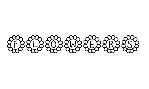 free flower power fonts