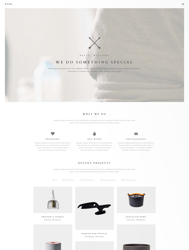 ajax creative theme