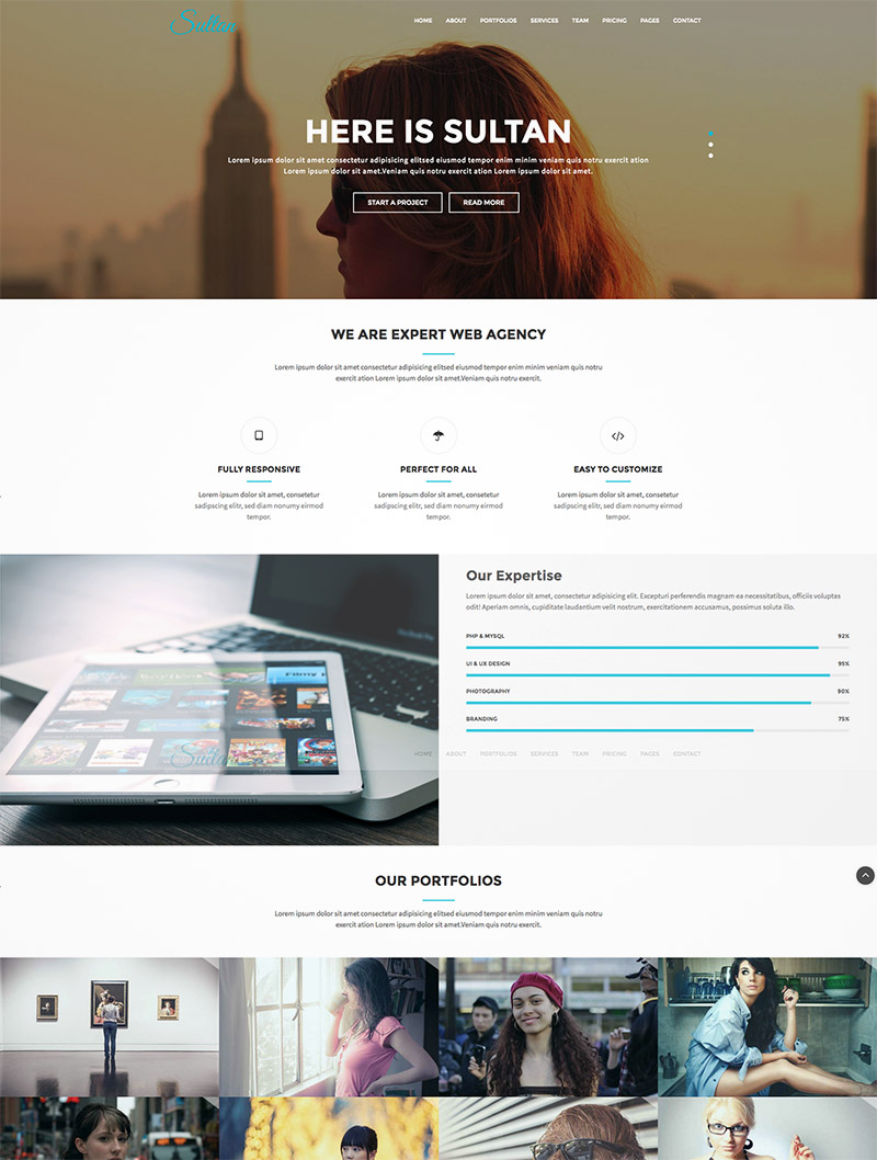 one page business site