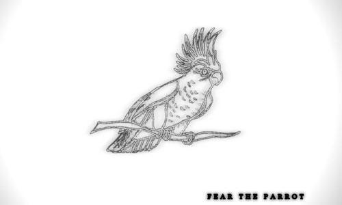 Sketched Parrot Wallpaper