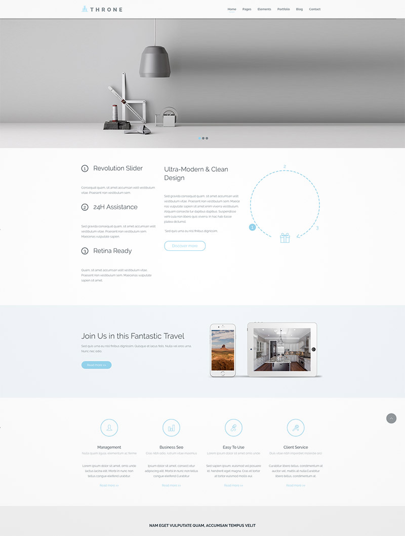 responsive wordpress template