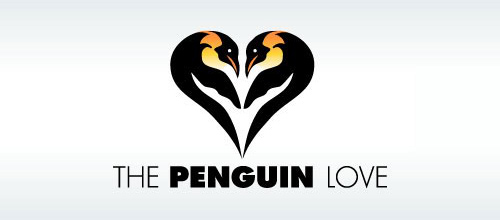 The Penguin Love logo