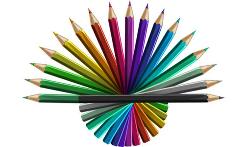 Free PSD Colored Pencils Graphics