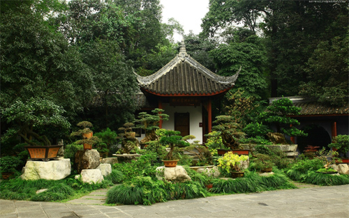 Japanese Home Garden Wallpaper