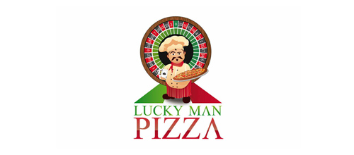 Lucky Man Pizza Logo