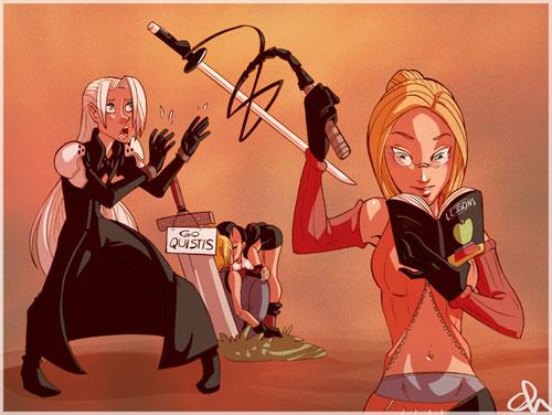 Quistis vs. Sephiroth