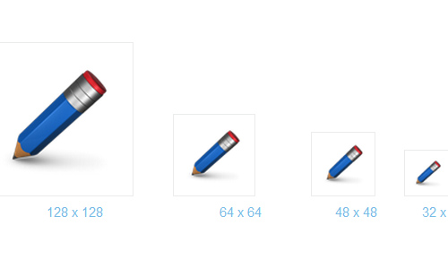 Free Blue Pencil Icon