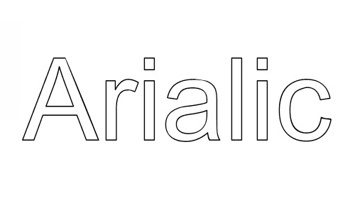 Arialic font