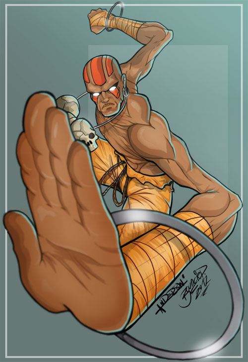 Dhalsim from Street Fighter Colorjob