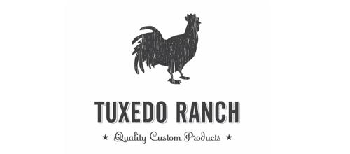 Tuxedo Ranch Rooster Logo