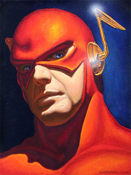The Flash 01 - Portrait Oil Painting