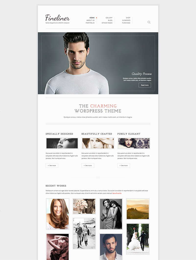 clean wordpress template