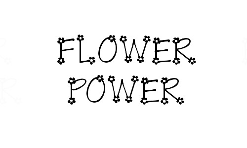 Cute Free Flower Fonts