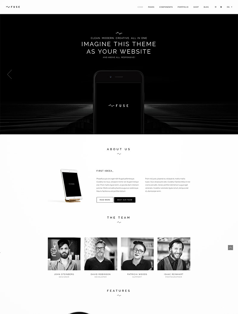 portfolio template wordpress