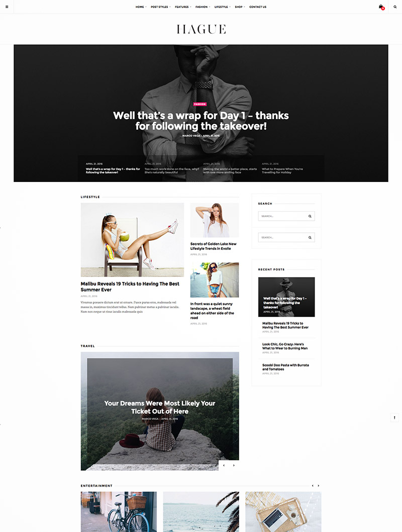 lifestyle magazine themes