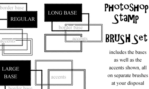 Photoshop Stamp Brushset