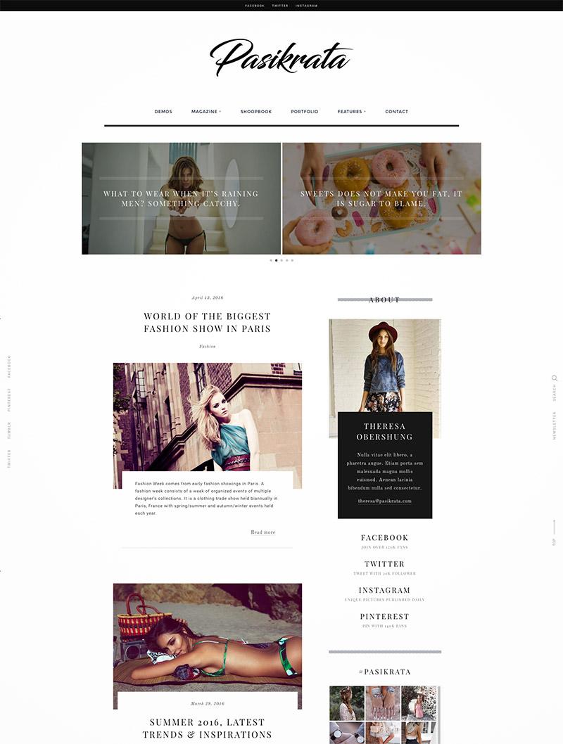 theme blog magazines
