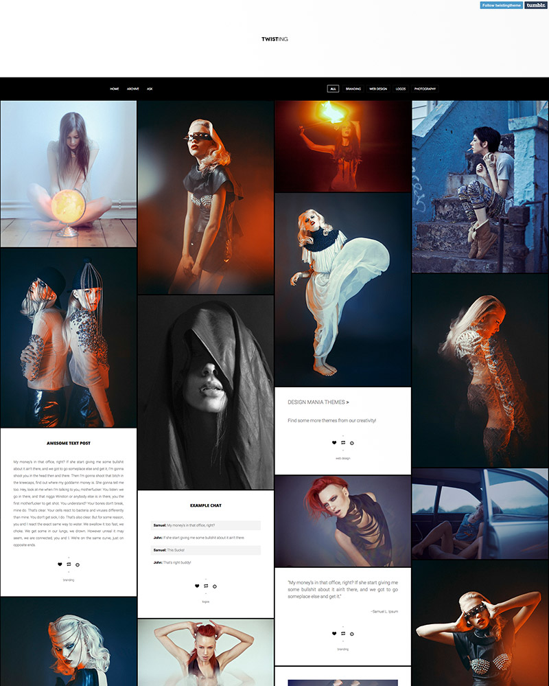 tumblr theme design