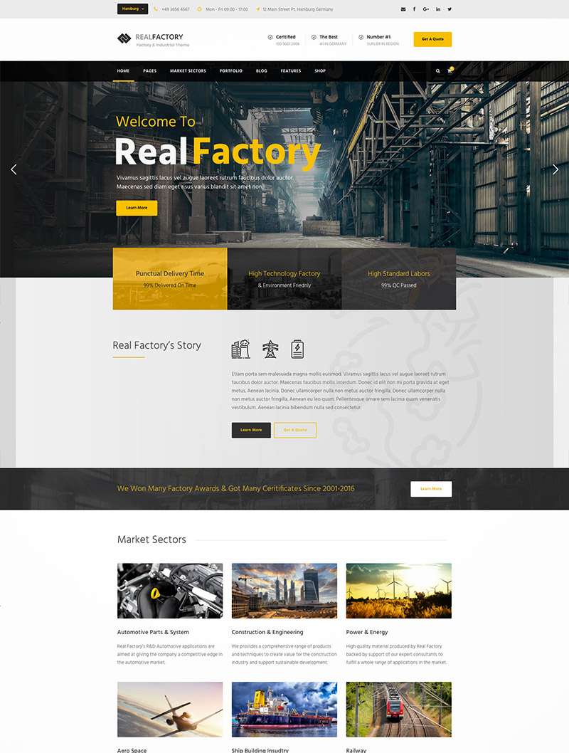 factory wordpress themes