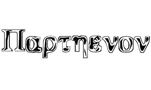 parthenon font